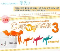 Cheap Free shipping 5pieces lot Cupmen 3 Cupwomen Instant Noodle Figure Set of Three Cup Ramen Readiness Indicators