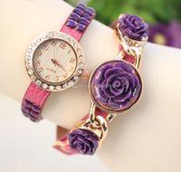 Wholesale New Rose Bracelets Watches Women Wrap Watches Leather Diamond watches luxury Charming Bracelets WristWatch Quartz watches dress watches