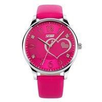 ar strap - Skmei Women S Watches Casual Watches Girls Fashion Waterproof Watch Leather Strap Heart Dial Ladies Quartz Watch Ar Watch