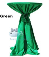 banquet good table cloth - Good Quality GREEN Color Polyester Table Cloth For Highboy Table Wedding Banquet Table Cover