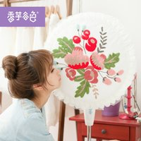 Wholesale Winter essential cotton fan dust cover color Lu embroidery taro valley floor fan cover fan cover rural fabric