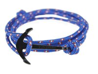 Wholesale Anchor Infinity Wrap Rope Charm Fish Hook With Nautical Rope Paracord Bracelet For Mens And Womens Miansai Style