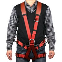 climbing harness - Climbing Harnesses Double Strap Hanging Safety Belt Hiking Climbing Development Fire Rescue Aerial Downhill Whole Body Safety Belt