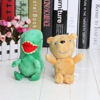 """2pcs de Peppa Pig Pelúcia Boneca Brinquedo de Pelúcia Peppa Urso& GEROGE Dinossauro 6.5"""""""