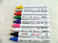 Wholesale 12pc set Car Paint Pen Scratch Repair Pen Writing Line Width MM Tires Complementary Color Pen Outdoor Marker Pen