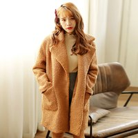 berber pictures - 5365 real pictures model with berber fleece outerwear female winter women s medium long thickening thermal overcoat