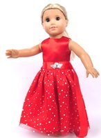 american girl dolls - New Fashion Christmas Gifts For Children Girls Doll Accessories Handmade Princess Dress For American Girl Doll