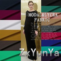 knit fabric - Hot selling Modal Lycra Fabric Bamboo Elegant Knitted Plain cloth For Dress Clothes And Trousers
