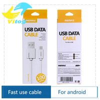 Wholesale Remax Fast charge A m white micro usb cable mobile phone cable android charger data cable for samsung galaxy