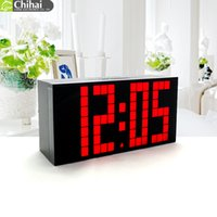 antique electric clocks - Big LED Light Digital Dot Shape Clock Thermometer Countdown Indoor Smart Design Electric Clock