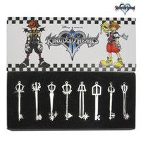 bamboo blade anime - Kingdom Hearts KEY BLADE Sora Necklace Keyblade Pendant Set new Cartoon Anime B