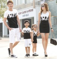 cotton shirt - Family Set Combed Cotton Clothes Vest Dress for Girls Women Tee shirts for Men Boys Lovers Couples Clothes