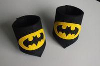 arm movie - superhero arm bands cosplay arm bands superman batman spiderman Wrist Cuffs for children kids costume handguard CY2938