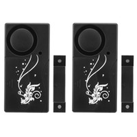 Wholesale 2 Black Smart Home Magnetic Sensor Alarm Remote Controller Suit for Home Workshop Office Store ACA_356
