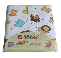 bamboo mattress - Infant Baby Bed Mattress Waterproof Cotton Baby Nappy Change Sheet Protector Material Flannel Top TPU Middle Bamboo pulp fiber Botto
