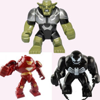 venom - Hot Sale New Classic toys Building Blocks Mini Super Heroes Big Green Goblin Venom Hulk Buster Action Toys Figures