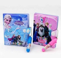 Wholesale Cheap Top quality Frozen Anna Elsa Notebook Frozen Princess Writting Pad with Ball Point Pen Student Notepad for children kids cm