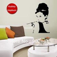 ebay - funlife x92cm x35in Ebay Hot Audrey Hepburn Vinyl Art Decals Wall Stickers Adesivo De Parede