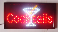 Wholesale New arriving customized led cocktails signs neon cocktails signs neon cocktails sign lights semi outdoor size cm cm