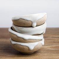 antique ceramics collectibles - 1 PC Top Grade ml Mug Japanese Rough Pottery Handpaited Tea Cup Ceramic Kungfu Teacup Pot Art Craft Antique Gift Collectibles order lt no