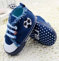 Wholesale Children s Shoes Baby First Walker Shoes M Fall Toddler Football Embroidery Soft Bottom Shoes Infant Shoes pair GX814