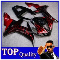 aftermarket s - YZF R1 black red flames Aftermarket ABS Body Kit Fairing For Yamaha YZF1000 YZFR YZFR1