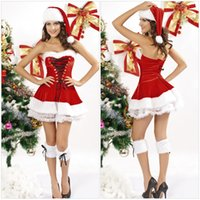 adult vest - sexy christmas costumes women fancy dress red clothing for adult cosplay cothes Vest dress