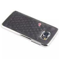 Para Samsung Galaxy S6 G9200 / Edge Square G925 Ovejas Lujo cuadros cocodrilo serpiente de cuero dura de la PC Caso metálico cromado 240pcs Piel