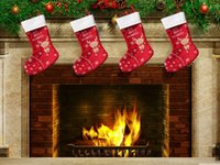 Wholesale 2015 New Christmas Deer stockings Christmas candy apple gift bag Xmas Bag Gift Red in stock