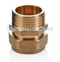 Wholesale Factory Direct cutting ferrule brass hex male adapter s2632 M pipe fitting thread external copper plumbing