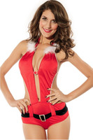 Wholesale santa claus costume Sexy Christmas Costumes Playful Santa Lingerie Costume LC7132 Cheap price Drop Shipping clothes woman