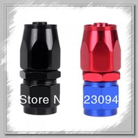 Wholesale High quality AN6 Straight Fuel Swivel Oil Hose End Fitting Adapter Aluminum Colors Via DHL Dropshipping