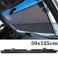 automatic window shutters - Automatic Telescopic Shutter Roller Car Window Curtain Sunshade x cm