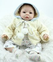 Cheap 2015 New 22 Inches Silicone Reborn Babies Dolls Toys For Children Hobbies Newborn Realistic Baby Doll Lifestyle Christmas Gift