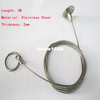 adjustable hanging - 1M Adjustable Hanging Hook Painting Exhibition Hook Hall Ticked Stainless Steel Hanging Wire rope accessories