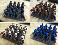 Wholesale Star Wars Blue White Clone Troopers Soldier Figures Classic Toys Hobbies DIY Building Blocks Bricks Minifigures Toy