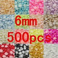 Wholesale bag mm Pearl Half Round Cabochon Flat Back semicircle ABS Beads Jewelry Findings DIY Phone Case