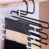 Wholesale Pants Rack Multipurpose Magic S Shape Multilayers Wardrobe Storage Tools Cabinet Closet Organizers Random Color
