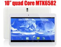 Wholesale 10 Inch Quad Core G phone tablet Android MTK6582 GB RAM GB ROM wifi GPS SIM SLOT DHL