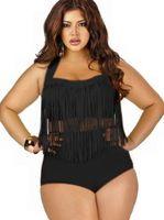100pcs 8 colori riempito sexy su Plus Size i bikini a vita alta Bikini 2015 nuove donne sexy bikini Swimwear dei costumi da bagno nappe Bikini