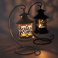 Metal iron candlestick - Iron Moroccan Style Candlestick Hollow Candleholder Candle Tea Light Holder Decor