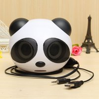 best mini laptop speakers - universal Cute Panda Shape usb Portable Mini Stereo Speaker for Desktop Laptop Notebook Cellphone best quality price