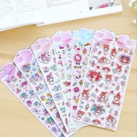 Wholesale New Japan Pink Cat Binary Star series paper sticker hot sell deco packing stickers school office supplies