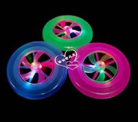 Wholesale High quality Hot Colorful Spin LED Light Outdoor Toy Flying Saucer Disc Frisbee UFO Kid Toy