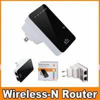 achat en gros de lan wifi répéteur mini--300 Mbit Hotspot LAN CE WAN sans fil 5 en 1 Répéteur Mini routeur WPS Wifi WLAN US UK Plug UE Gratuit DHL OM-CF2
