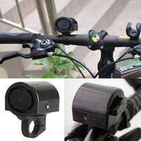 bicycle accessories bell - Mini bicycle accessories Plastic Bicycle Bike Cycle Ultra loud Electronic Bell Ring Horn Black HW050