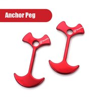 aviation accessories - PC CM Aviation Aluminum Alloy Anchor Peg For Camping Tent Hiking Accessories Ultralight g Red Color