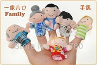 Cheap 2014 new gifts 6pcs pack Finger Plush Puppet Happy Family Story Telling Dolls Support Children Baby Educational Toys Wholesale 80523