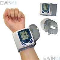 Wholesale Digital LCD Wrist Cuff Arm Blood Pressure Monitor Heart Pulse Beat Meter Gauge Automatical Blood pressure