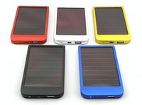 Wholesale mAh Portable Solar Charger External Battery Chargers Power Bank Pack for Smart phone Mobile Phone iPhone Samsung Galaxy